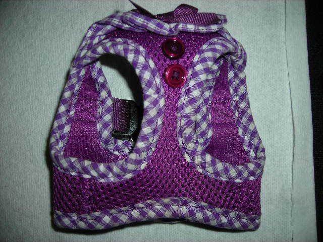 Adorable Puppia Choke Free Dog Harness VEST - Vivien -  XS - Purple