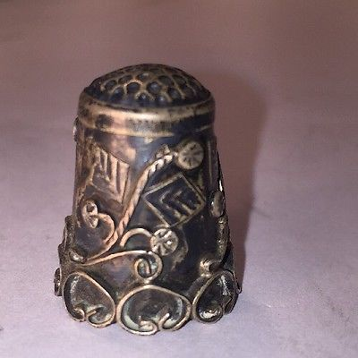 925 Silver Vintage Beautiful Detailed Thimble