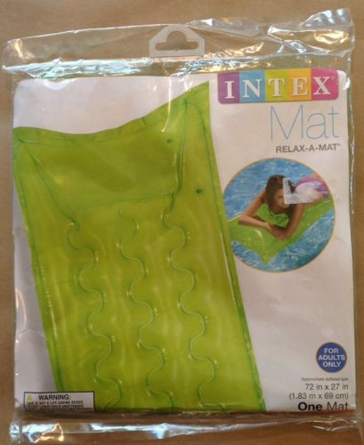 Lot of 2 Inflatable Floating Swimming Pool Float Tube Intex Relax-A-Mat