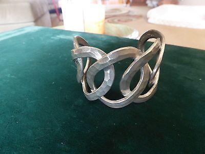 Beni Larsen Danish Modernist pewter wrist cuff-stunning-mid century modern