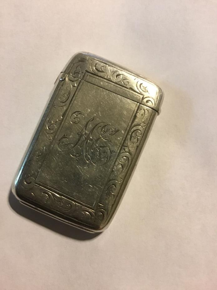 Vintage English Sterling Silver Match Case