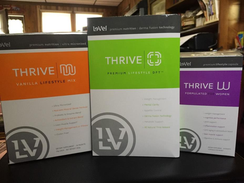 Thrive pk For Women 1 box drink mix, pills,patch Factory Seal Fresh exp 2018 NEW