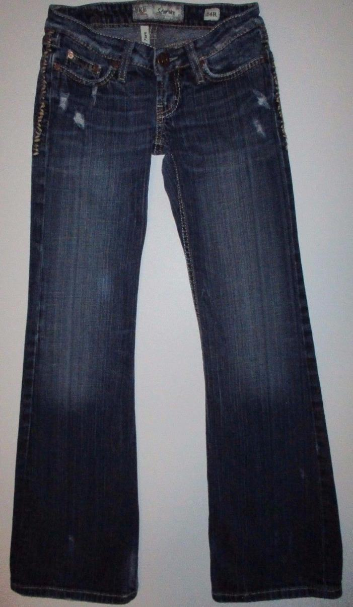 BKE The Buckle STARLITE FLARE Low Rise Jeans 24R (24x31.5)