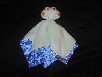 Baby Essentials Green Frog Lovey, Securitity Blanket, EUC