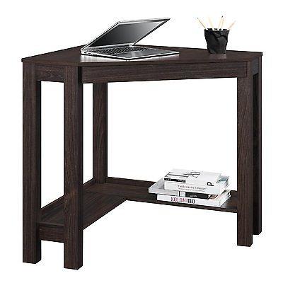 Corner Desk w/Drawer Furniture Espresso Finish Computer Decor Notebook Writing