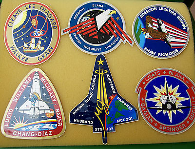 NASA Mission Space Shuttle Crew Stickers 6 in number.