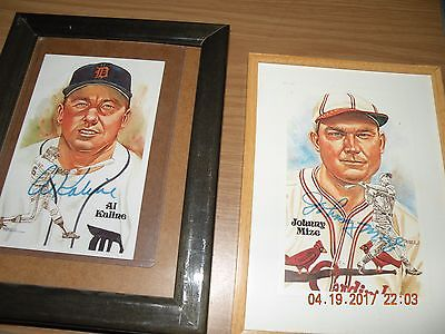 JOHNNY MIZE SIGNED PEREZ STEELE POST CARD