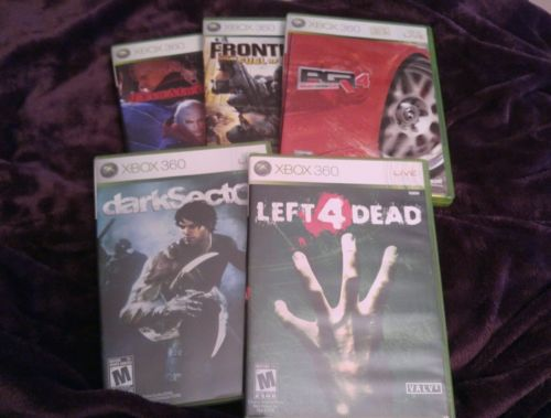 Lot of Five XBox 360 Games Great Condition Most Games Never Played