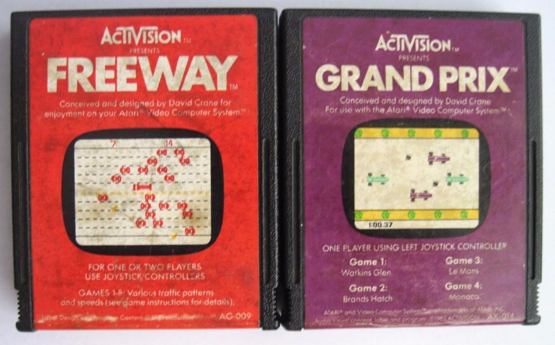 Atari Activision Racing Games Freeway & Grand Prix *Cleaned & Tested*