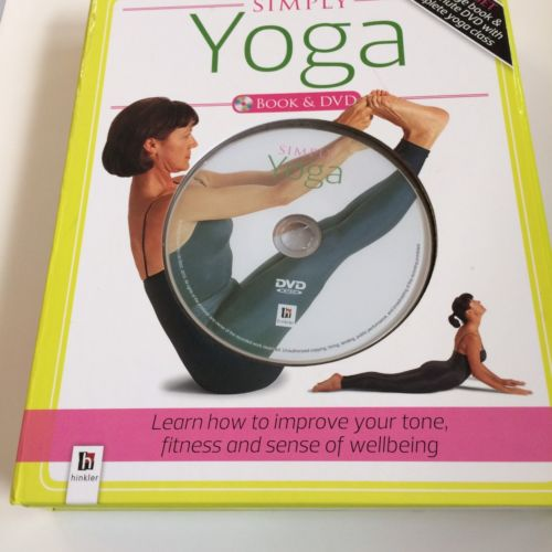 Simply YOGA Book & DVD Box Set 64 page book & 30 Minute DVD Yoga Class Pre-Owned