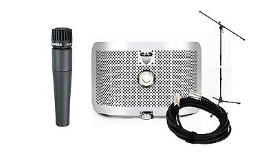 Shure SM57 Microphone w/ CAD AS16 Acoustic Shield & MS7701 Stand