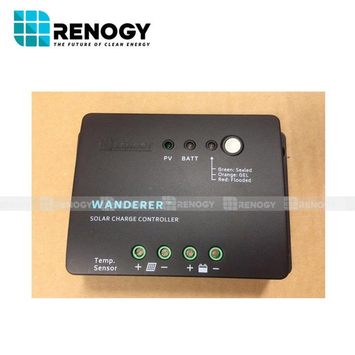 Renogy Open Box Wanderer 30A PWM Solar Panel Charge Controller Battery 12V Fair