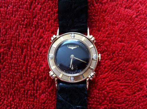 1 MEN'S WATCH LONGINE 14K SOLID GOLD, 17 JEWEL, SWISS, WORKS VERY GOOD