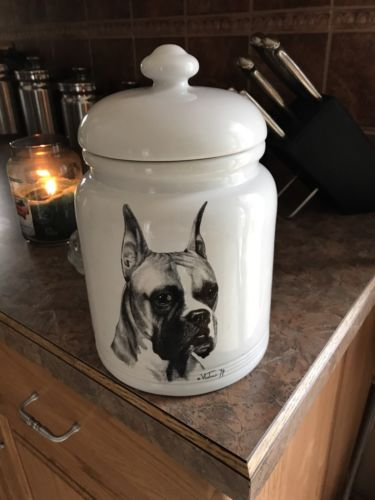Boxer Dog Vladimir Tzenzov Biscuit Jar