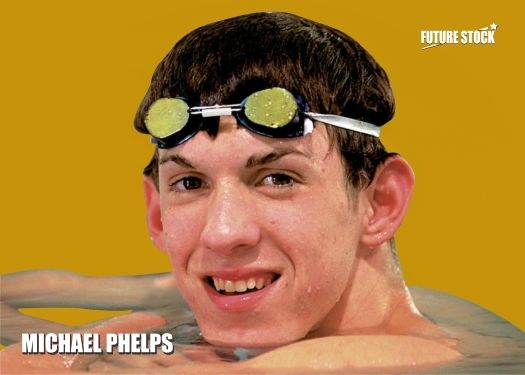 Michael Phelps Towson High School Rookie - Gold Variation - Rare Serial 1/5