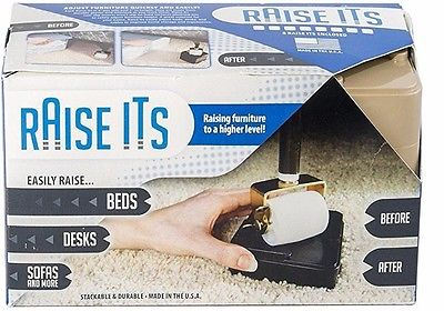 Raise Its raiseits Furniture bed Risers  8-pack (CLEAR)