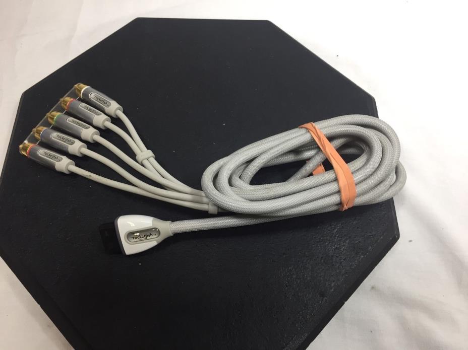 Nintendo Rocketfish Gaming Wii 6 ft Component Video Cable Gold Connectors
