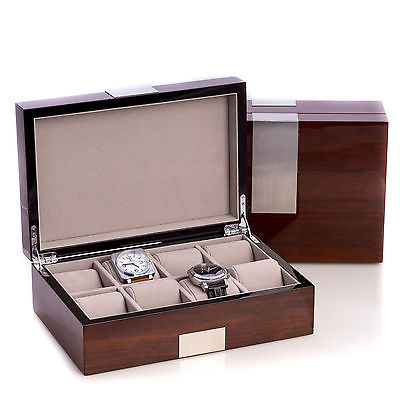 Watch Cases For Men Holder Jewelry Watches Home Travel Boxes 8 Storage Space NEW