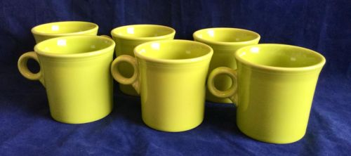 Set of 6 HLC Lemongrass Fiesta Tom & Jerry Coffee Mugs Tea Cups - FREE SHIP!