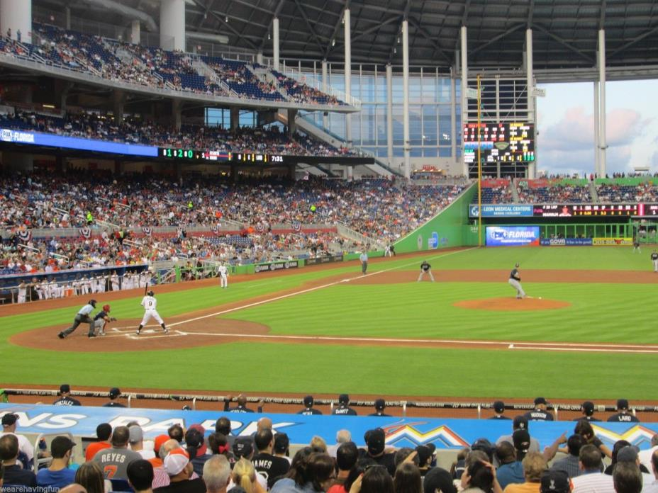 Marlins vs Washington Nationals 6/21/17 (Miami) Row 1 - Behind Nationals Dugout