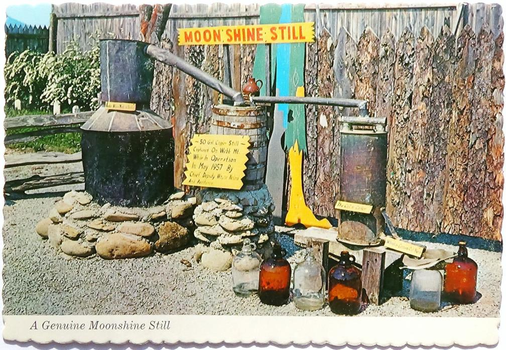 A Genuine Moonshine Still, Hillbilly Village, Pigeon Forge, TN Postcard