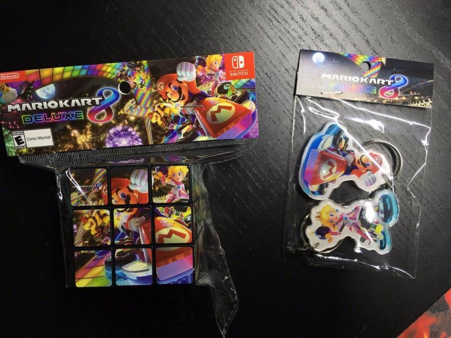 NEW Mario Kart 8 Keychains + Rubik's Puzzle Cube Promo Target Exclusive Nintendo