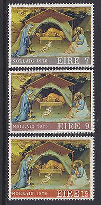 IRELAND, Scott #408-410:  Complete Set, MNH, 1976 Christmas