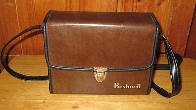Vintage Bushnell Binoculars Carry Hard Case Brown Holder With Strap # 7