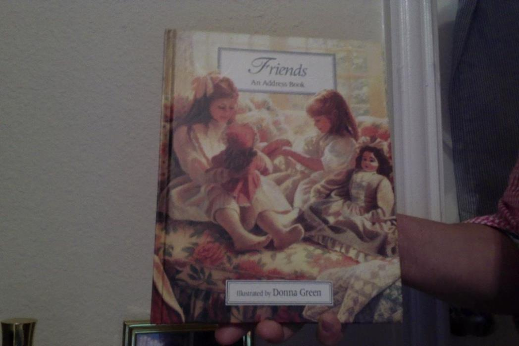FRIENDS ADDRESS BOOK ILLUSTRATED BY DONNA GREEN LOVELY PICTURES NEW