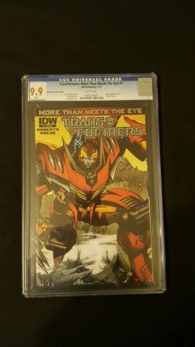 CGC 9.9 Transformers #1 Super rare retailer incentive cover!!! M+