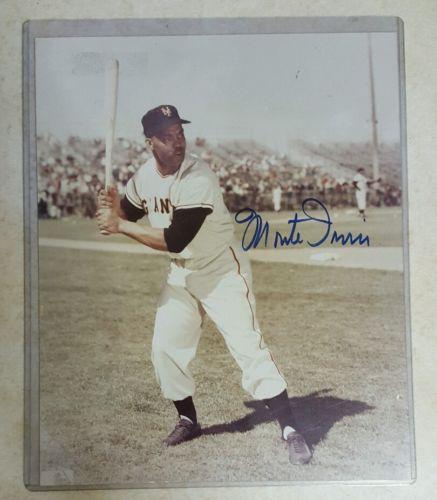 Monte Irvin Autographed Photo HOF New York Giants
