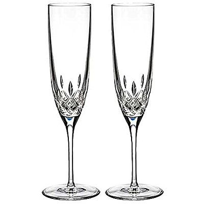 Waterford Champagne Glasses Lismore Encore Champagne Flute, Pair