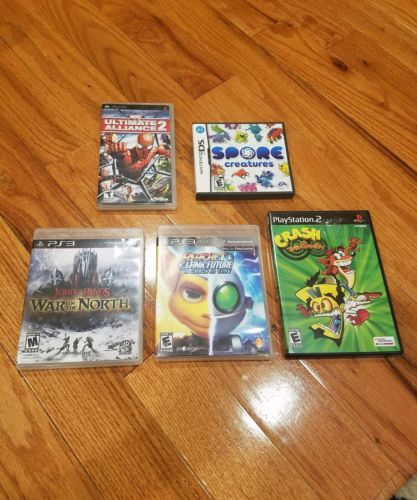 Video Game Lot of 5 - PS2, PS3, PSP and Nintendo DS Games
