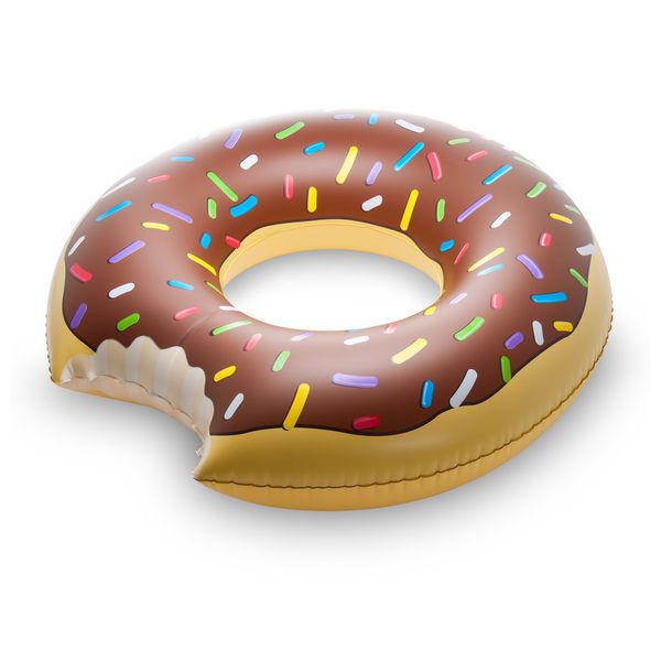 Giant Inflatable Chocolate Donut Pool Float 4 Feet Wide