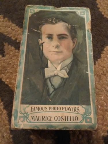 Rare Antique Box With Maurice Costello's Picture - Vaudeville Actor 1890's