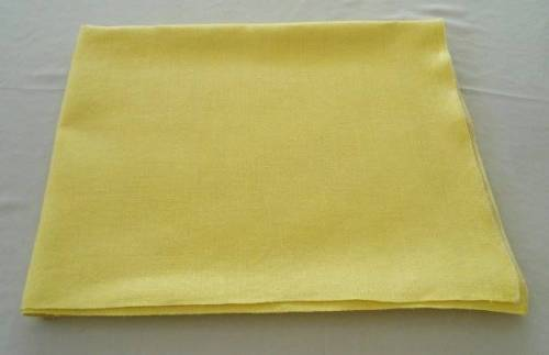 Vintage Bright Yellow Pure Irish Linen Summer Tablecloth 66