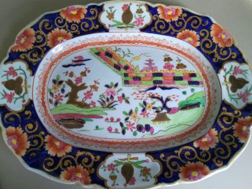 Gaudy Dutch Welsh Platter?? about 9 3/4