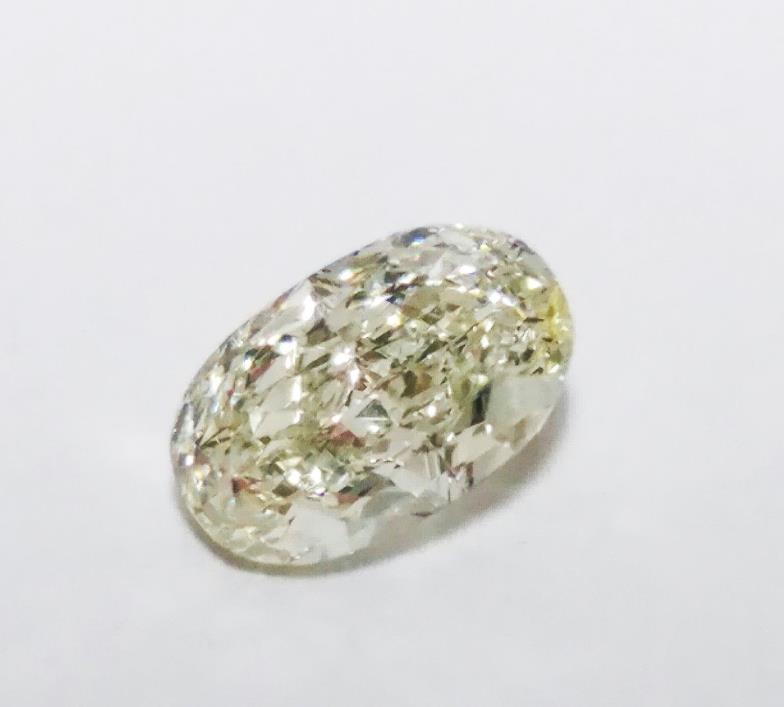Green Diamond - 0.46ct Natural Loose Fancy Light Green Color Oval Cut VVS2