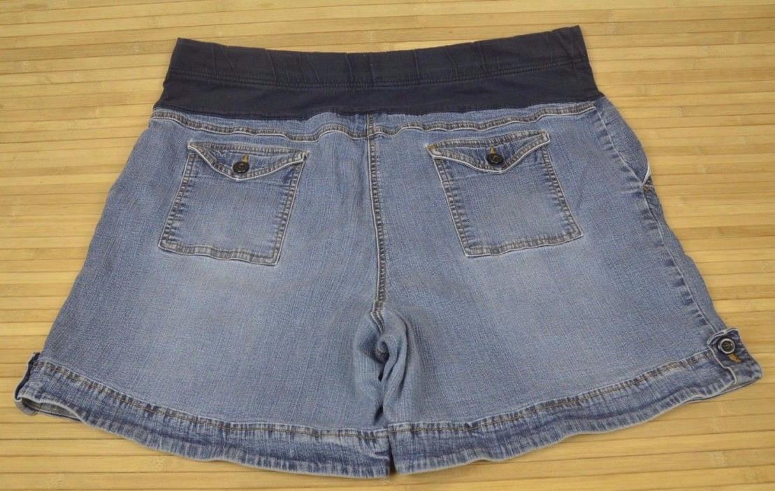 Duo Maternity Denim Shorts Size 2XL Light Wash
