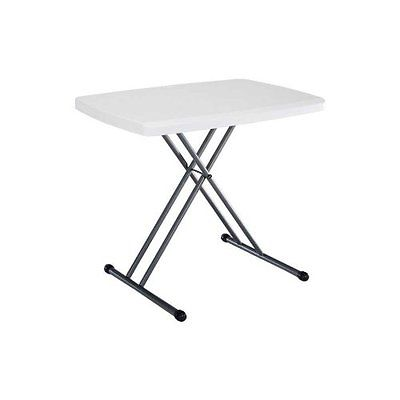 Folding Personal Table 30 by 20 Inch White Fold flat for storage
