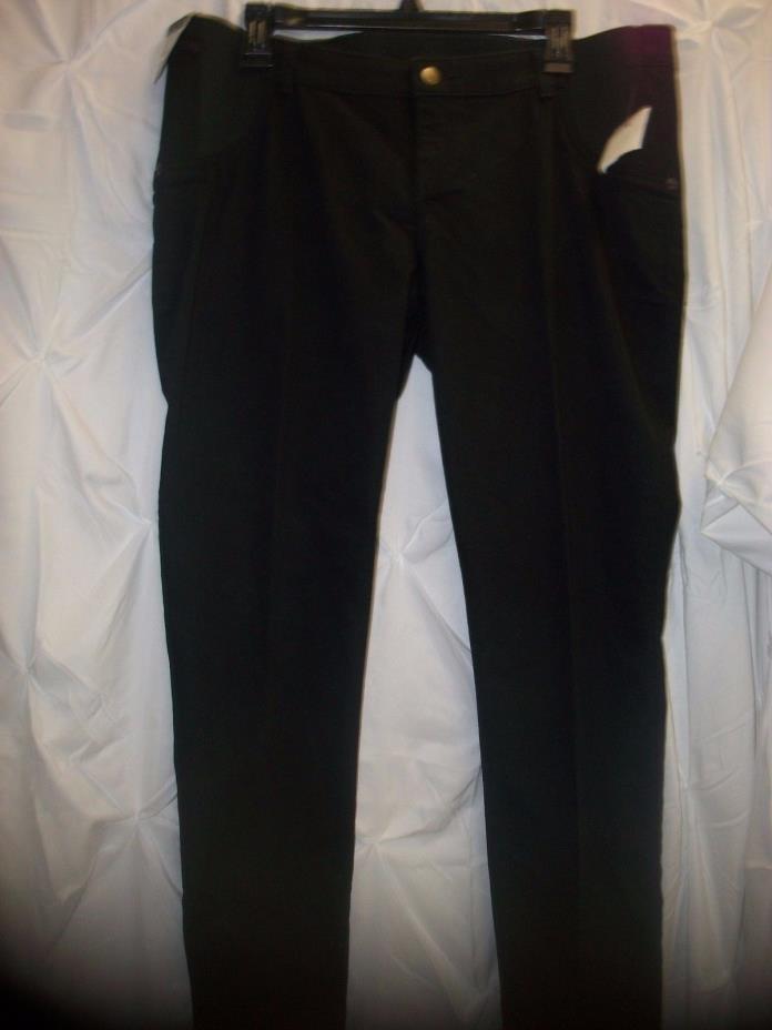Women's Liz Lange maternity size L 12-14 Black ankle skinny elastic waist panels