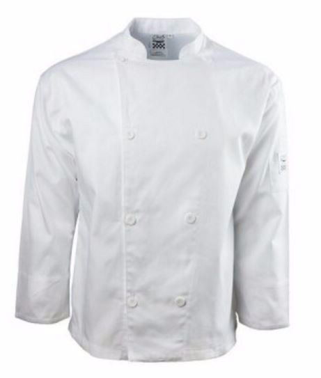 NWT Chef Revival Knife & Steel Long Sleeve Chef Jacket Coat Size S Style J002