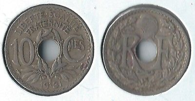 1931 France 10 centimes coin