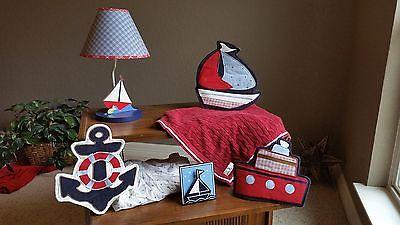 Nautica Baby nursery decor and sheets