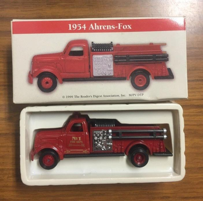 Vintage Boxed 1999 1954 Ahrens-Fox Miniature 3-3/4