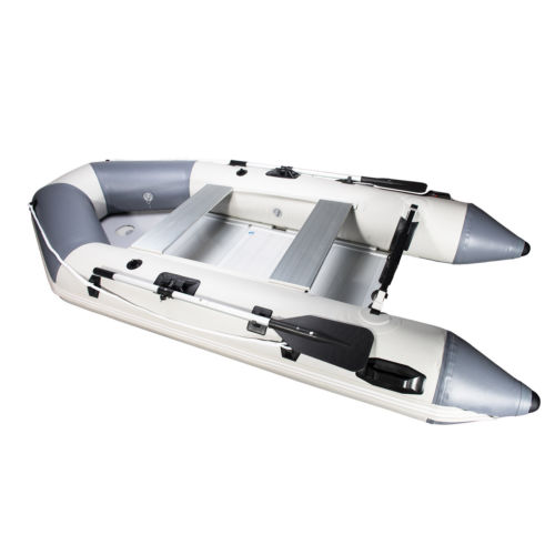 PVC 10.8FT Inflatable Boat Tender Raft w/ Aluminum Floor Oar for Fishing
