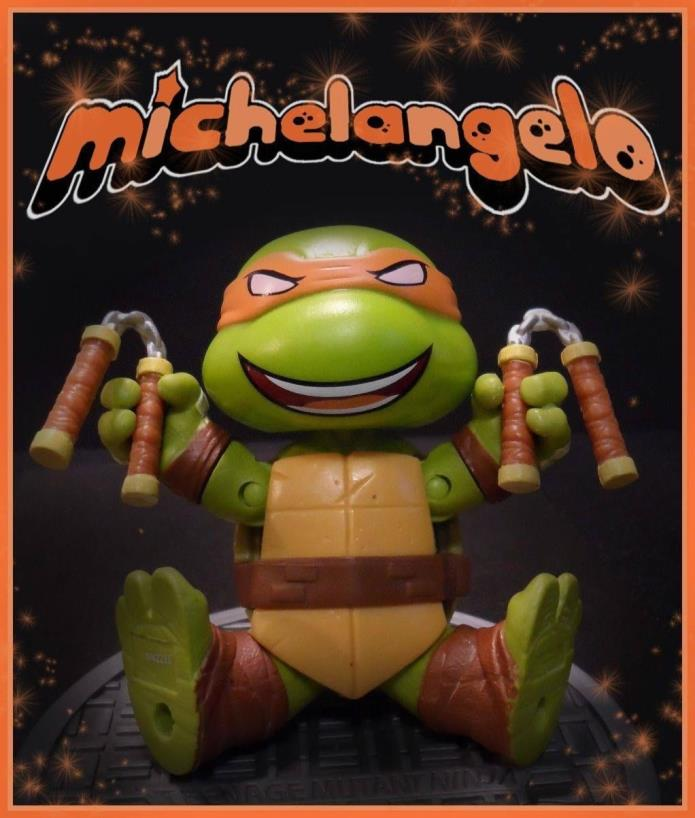 Chibi Michelangelo TMNT figure Custom by FigureHunterCustoms