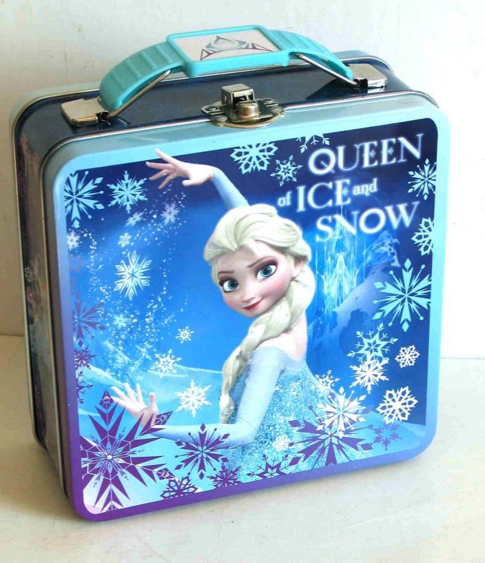 Disney Frozen TIN METAL Lunchbox Bag Tote purse Queen Elsa FREE SH