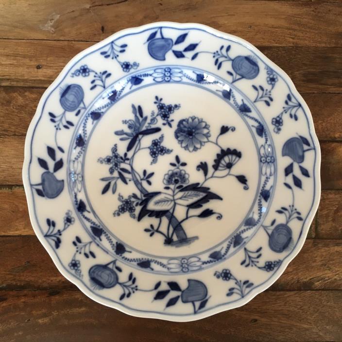 Vintage Meissen Blue Onion Crossed Swords Dinner Plate 9 3/4
