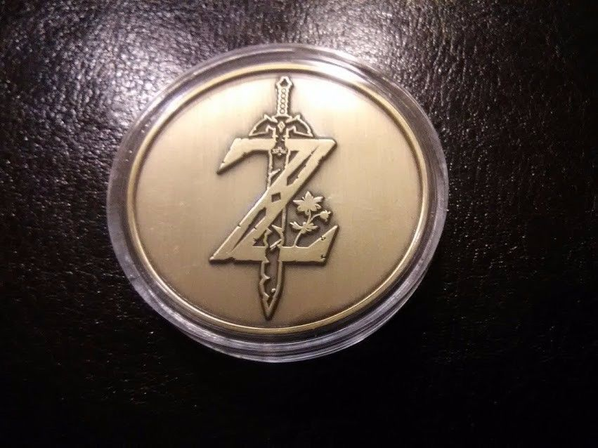 Legend Zelda Breath of the Wild Special Edition Sheikah Coin with case. NEW